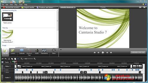 Captură de ecran Camtasia Studio pentru Windows 7