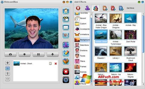 Captură de ecran WebcamMax pentru Windows 7