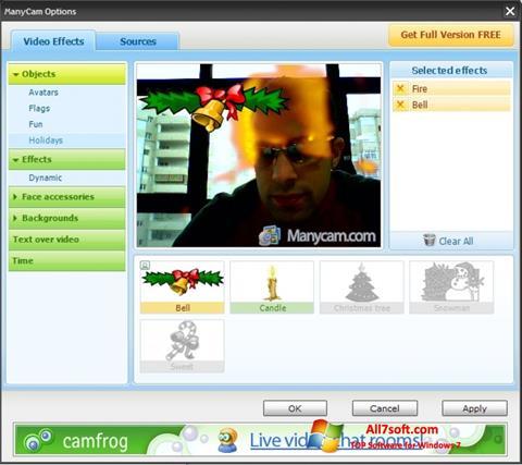 Captură de ecran ManyCam pentru Windows 7