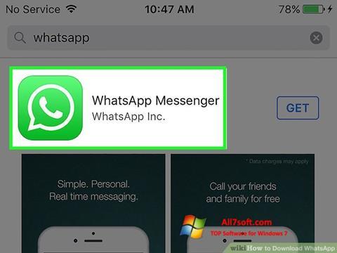 Captură de ecran WhatsApp pentru Windows 7