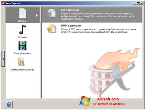 Captură de ecran Nero Express pentru Windows 7