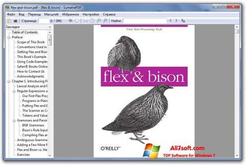 Captură de ecran Sumatra PDF pentru Windows 7