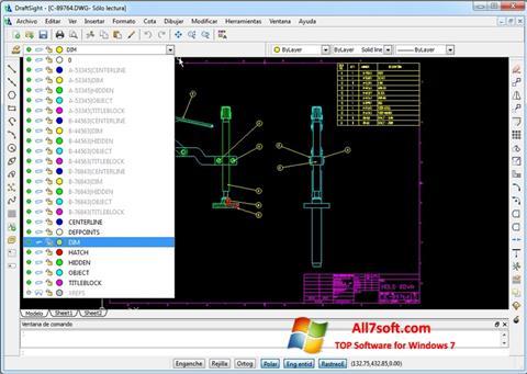 Captură de ecran DraftSight pentru Windows 7