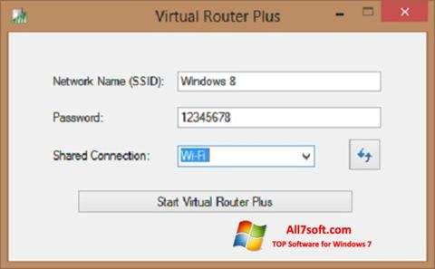 Captură de ecran Virtual Router Plus pentru Windows 7