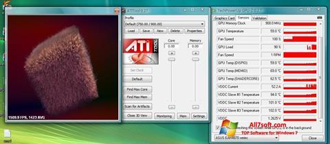 Captură de ecran ATITool pentru Windows 7