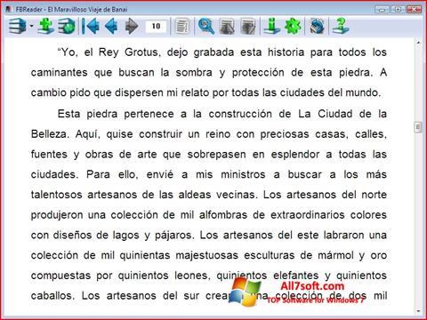 Captură de ecran FBReader pentru Windows 7