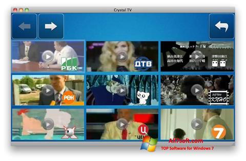 Captură de ecran Crystal TV pentru Windows 7