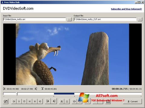 Captură de ecran Free Video Dub pentru Windows 7