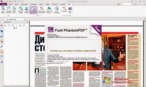 Captură de ecran Foxit Phantom pentru Windows 7