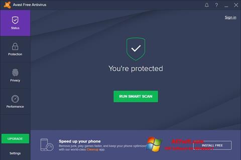Captură de ecran Avast Free Antivirus pentru Windows 7