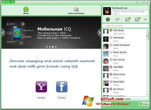 Captură de ecran ICQ pentru Windows 7