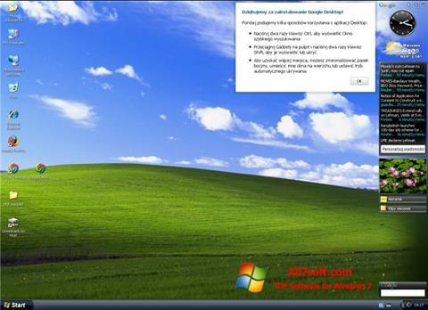 Captură de ecran Google Desktop pentru Windows 7