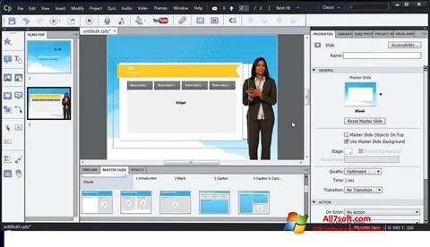 Captură de ecran Adobe Captivate pentru Windows 7