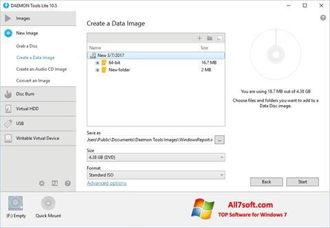 Captură de ecran DAEMON Tools Lite pentru Windows 7