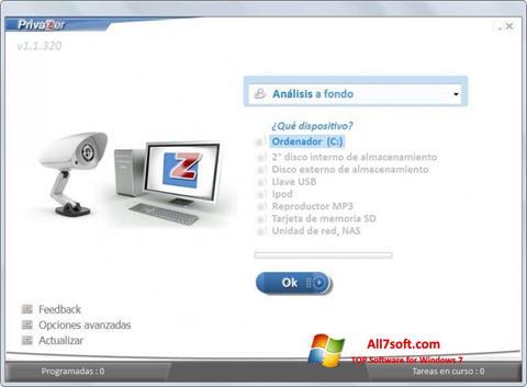 Captură de ecran PrivaZer pentru Windows 7