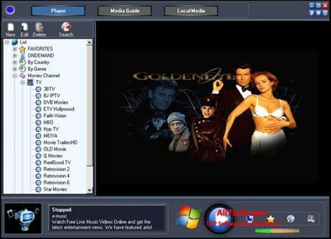 Captură de ecran Online TV Live pentru Windows 7