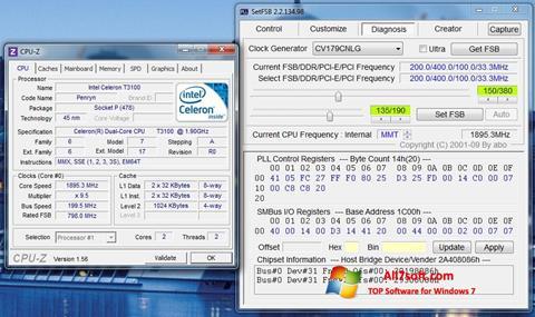 Captură de ecran SetFSB pentru Windows 7