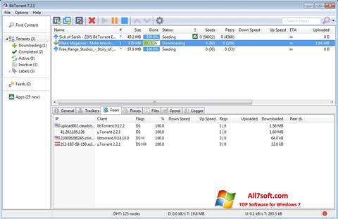 Captură de ecran BitTorrent pentru Windows 7