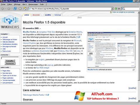 Captură de ecran Mozilla Firefox pentru Windows 7