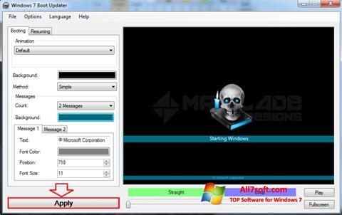 Captură de ecran Windows 7 Boot Updater pentru Windows 7