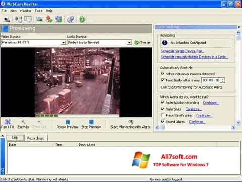 Captură de ecran WebCam Monitor pentru Windows 7