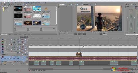 Captură de ecran Sony Vegas Pro pentru Windows 7