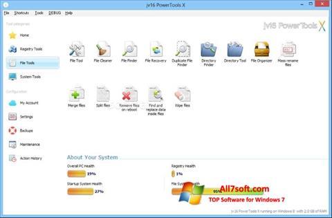 Captură de ecran jv16 PowerTools pentru Windows 7