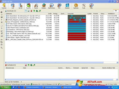 Captură de ecran eMule pentru Windows 7