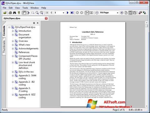 Captură de ecran WinDjView pentru Windows 7