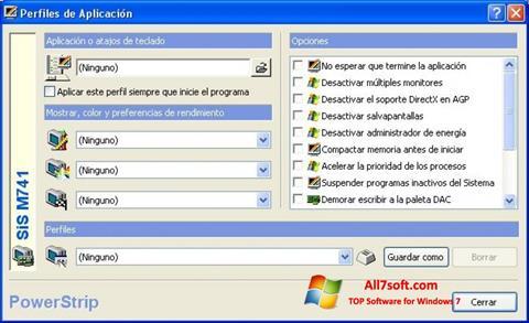 Captură de ecran PowerStrip pentru Windows 7