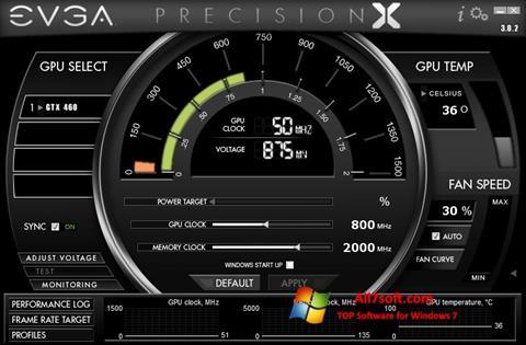 Captură de ecran EVGA Precision X pentru Windows 7