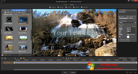 Captură de ecran Pinnacle Studio pentru Windows 7