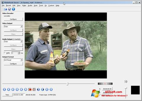 Captură de ecran Avidemux pentru Windows 7