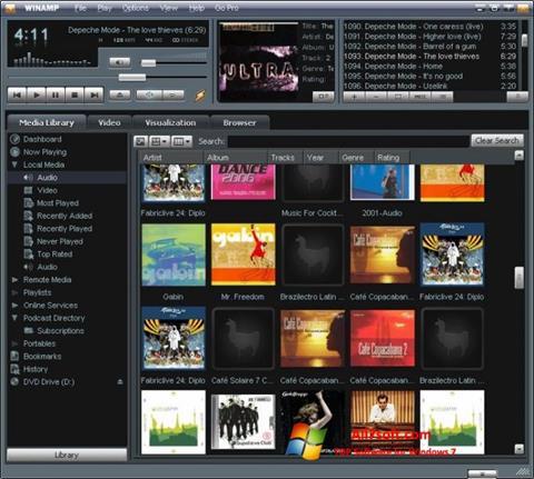 Captură de ecran Winamp pentru Windows 7
