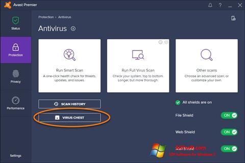 Captură de ecran Avast pentru Windows 7