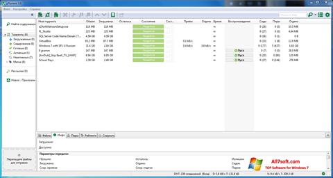 Captură de ecran uTorrent pentru Windows 7