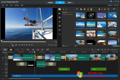 Captură de ecran Corel VideoStudio pentru Windows 7