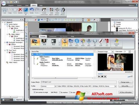 Captură de ecran Free Video Editor pentru Windows 7