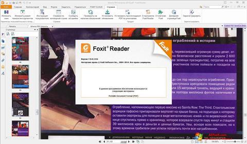 Captură de ecran Foxit Reader pentru Windows 7