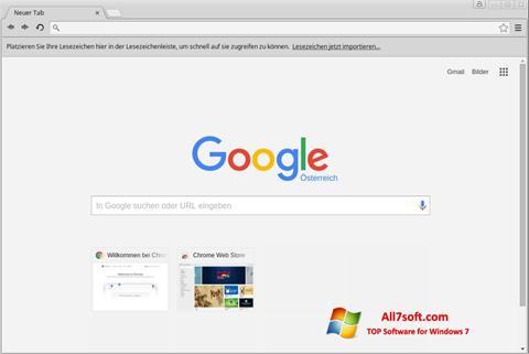 Captură de ecran Google Chrome pentru Windows 7