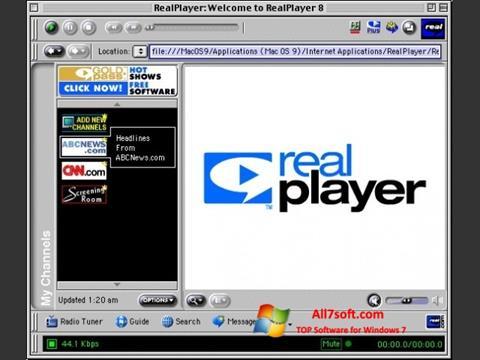Captură de ecran RealPlayer pentru Windows 7