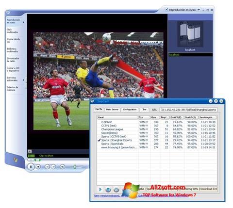 Captură de ecran SopCast pentru Windows 7
