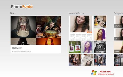 Captură de ecran PhotoFunia pentru Windows 7