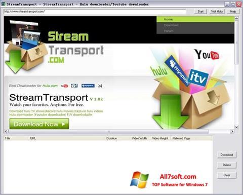 Captură de ecran StreamTransport pentru Windows 7