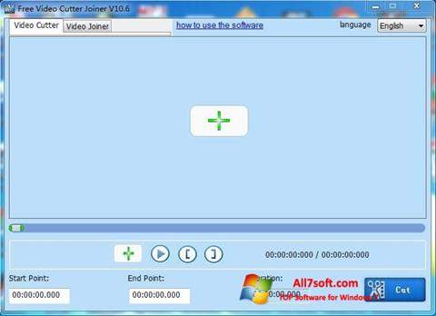 Captură de ecran Free Video Cutter pentru Windows 7