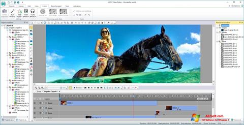 Captură de ecran VSDC Free Video Editor pentru Windows 7